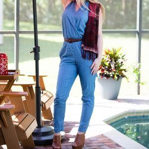 Pants - Chambray Jump Suit 100% Cotton